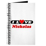 I Love Nickolas Journal