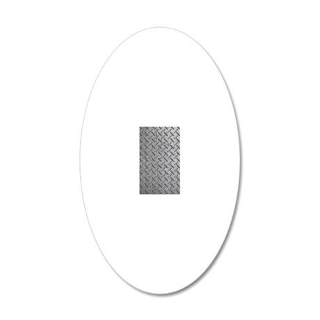 Construction Worker 20x12 Oval Wall Decal