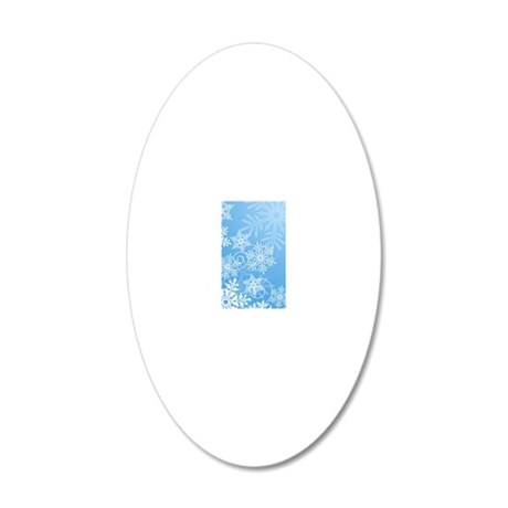 Snowflakes 20x12 Oval Wall Decal