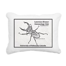 Stag beetle logo Rectangular Canvas Pillow