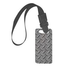 Diamond Plated Steel Luggage Tag