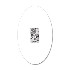 Black Victorian Scrolls 20x12 Oval Wall Decal