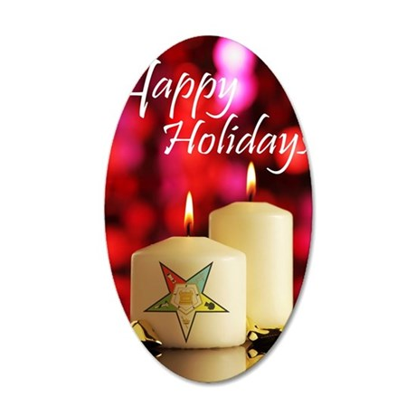 Eastern Star Holiday Card 35x21 Oval Wall Decal