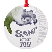 Hurricane Sandy Cloud white Ornament