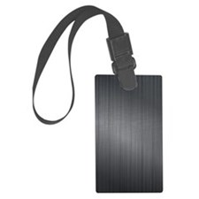 Dark Gray Brushed Aluminum Metal Luggage Tag