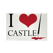 I Heart Castle Rectangle Magnet