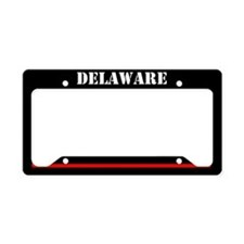 Deleware Fire And Rescue License Plate Holder