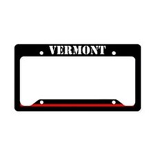 Vermont Fire And Rescue License Plate Holder