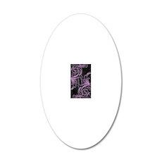 Purple Victorian Scrolls 20x12 Oval Wall Decal