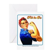 Fit to Go with Rose the Riveter Greeting Card