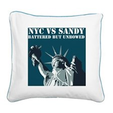 Hurricane Sandy Vs New York C Square Canvas Pillow