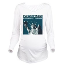 Hurricane Sandy Vs N Long Sleeve Maternity T-Shirt