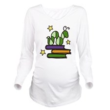 Books And Worm Long Sleeve Maternity T-Shirt