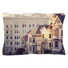 Famous 'painted ladies' of Alamo Squar Pillow Case