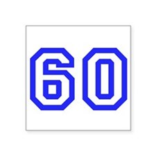 "#60 Square Sticker 3"" x 3"""