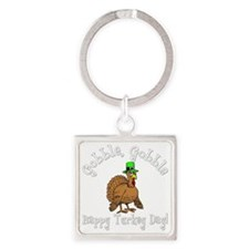 Thanksgiving Square Keychain