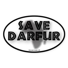 Save Darfur Oval Decal