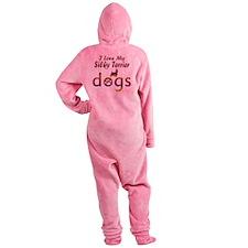 Silky Terrier designs Footed Pajamas