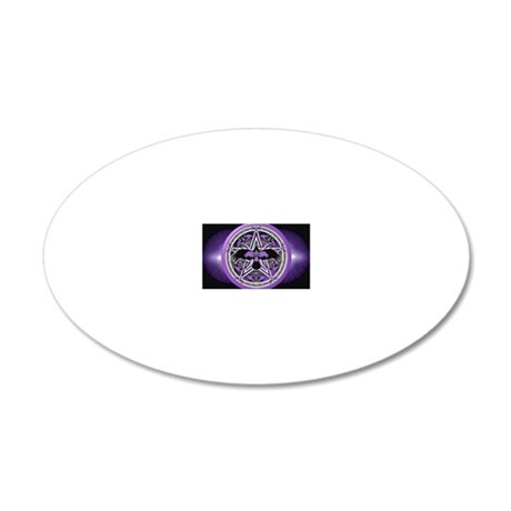 Purple Crow Pentacle Banner 20x12 Oval Wall Decal