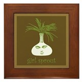 Girl Sprout Framed Tile