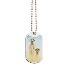Two Meerkats Small Luggage Tag Dog Tags