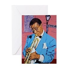 Satchmo on Bourbon Street Greeting Card