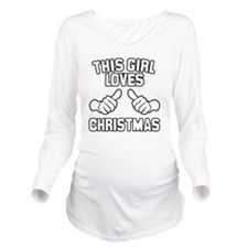 This Girl Loves Chri Long Sleeve Maternity T-Shirt