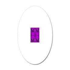 Purple Jewels 20x12 Oval Wall Decal