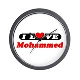 I Love Mohammed Wall Clock