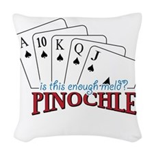 Pinochle Cards Woven Throw Pillow