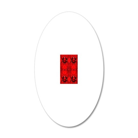 Red Jewels 20x12 Oval Wall Decal