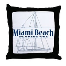Miami Beach - Throw Pillow