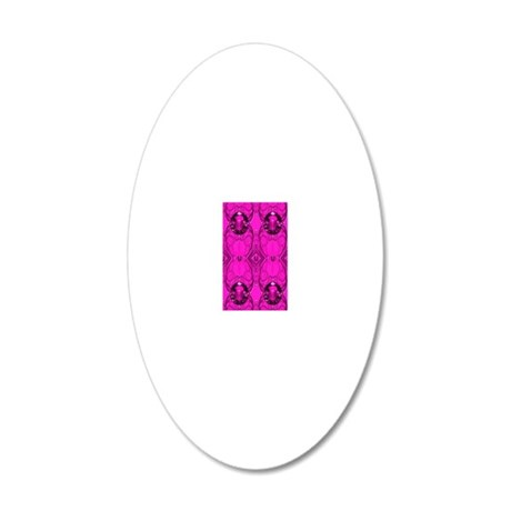 Pink Jewels 20x12 Oval Wall Decal