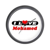 I Love Mohamed Wall Clock