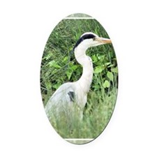 Heron4 Oval Car Magnet