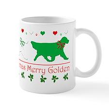 Golden Retriever CHristmas Gaiting Shir Mug