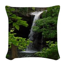 Waterfall Bliss Woven Throw Pillow