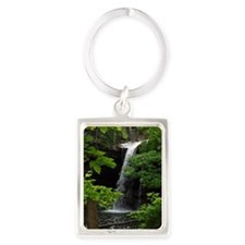 Waterfall Bliss Portrait Keychain