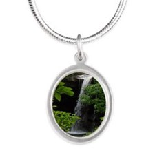 Waterfall Bliss Silver Oval Necklace
