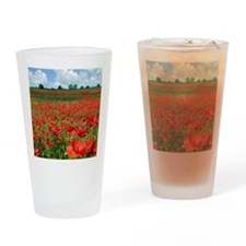 Poppy Fields Drinking Glass