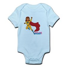 Superhero Girl Yellow and Blue Infant Bodysuit