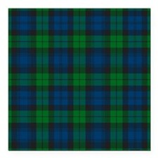 "Black Watch Tartan Plaid Square Car Magnet 3"" x 3"""
