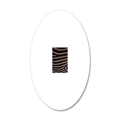 Chocolate Brown And Black Ze 20x12 Oval Wall Decal