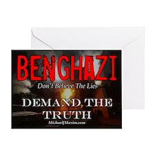 Benghazi Yard Sign Demand The Truth Greeting Card