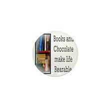 Books and Chocolate Mini Button