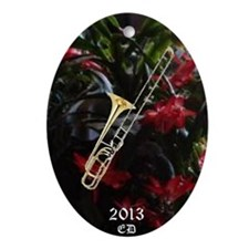 Trombone Ornament (Oval)