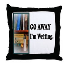 GoAway Im Writing. Throw Pillow