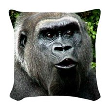 GORILLA KISS Woven Throw Pillow