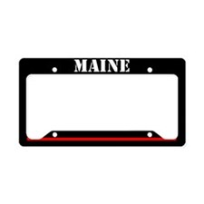 Maine Fire And Rescue License Plate Holder