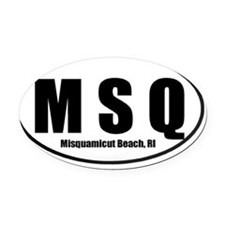 MSQwide4 Oval Car Magnet